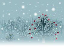 Christmas landscape with snowbound trees Stock Photography