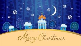 Christmas  landscape. Royalty Free Stock Image