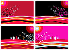 Christmas landscapes Royalty Free Stock Image