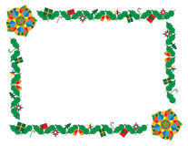 Christmas lantern as border and frame Stock Images