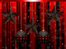 Christmas lantern baubles Stock Images