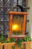 Christmas lantern on Christmas Eve royalty free stock photography