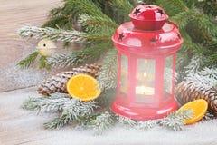 Christmas lantern close up Stock Photo