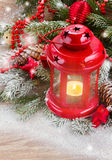 Christmas lantern close up Stock Photography