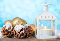 Christmas lantern Stock Images