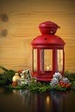 Christmas Lantern with Fir Tree Royalty Free Stock Image