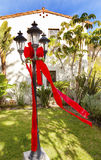 Christmas Lantern Garden Mission San Buenaventura Ventura Califo Royalty Free Stock Images