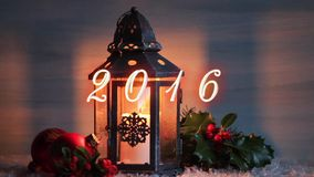 Christmas lantern stock footage