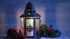 Christmas lantern stock video footage