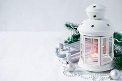 Christmas lantern. Magic lightning background. Royalty Free Stock Image