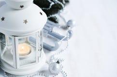 Christmas lantern. Magic lightning background. Royalty Free Stock Images