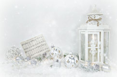 Christmas lantern with ornaments Stock Photography