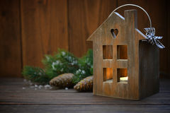 Christmas lantern Stock Photos