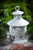 Christmas lantern on snow Royalty Free Stock Photography