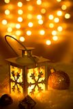Christmas lantern with snowflakes Royalty Free Stock Image
