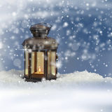 Christmas lantern royalty free stock photography