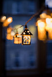 Christmas lanterns blurred Royalty Free Stock Photos