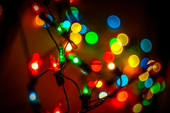 Christmas lanterns. Bright Christmas lanterns give the perfect holiday mood Stock Images