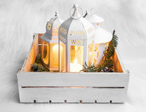 Christmas lanterns Royalty Free Stock Photos