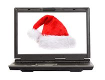 Christmas laptop 2 Royalty Free Stock Images