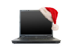 Christmas laptop Stock Photography