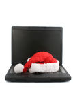 Christmas laptop Royalty Free Stock Image