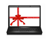Christmas laptop computer Royalty Free Stock Images