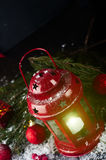 Christmas latern with decoration Stock Image