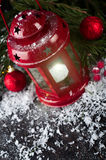 Christmas latern with decoration Stock Photography