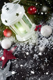 Christmas latern with decoration Stock Photo