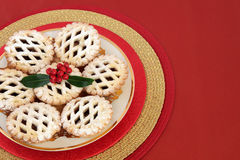 Christmas Latticed Mince Pies Royalty Free Stock Photography