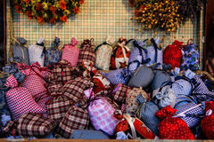 Christmas lavender scented ornamental bags Stock Images