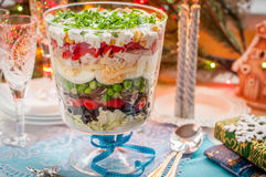 Christmas Layered Salad royalty free stock photo