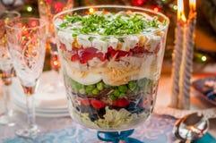 Christmas Layered Salad stock photo