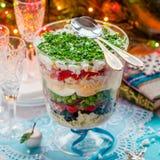 Christmas Layered Salad royalty free stock photography