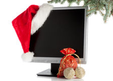Christmas LCD monitor Stock Photo