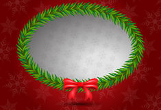 Christmas leaf bunch ellipse shape Stock Image