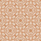 Christmas leaf vector seamless pattern background illustration in redish brown Stock Photo