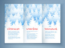 Christmas leaflet design template Royalty Free Stock Image