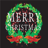 Christmas leafs with Christmas background and greeting card vector Stock Image
