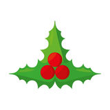 Christmas leafs isolated icon Stock Images