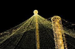 Christmas led decoration in city center. Christmas led decoration in city center, shot taken at night stock photo