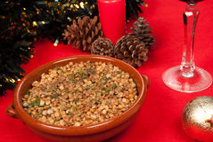 Christmas lentils Royalty Free Stock Photography