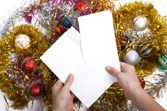 Christmas letter Royalty Free Stock Image