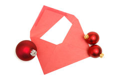 Christmas Letter. A blank Christmas letter with easy insert of your text Royalty Free Stock Photo