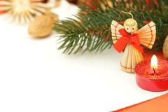 Christmas letter. Christmas decoration with paper and copy space Stock Photo