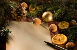 Christmas letter. A blank christmas wish letter Stock Image