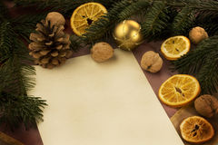 Christmas letter. A blank christmas wish letter Royalty Free Stock Photo