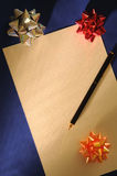 Christmas letter. For father christmas Royalty Free Stock Photography