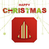 Christmas letter background with inset card Royalty Free Stock Image